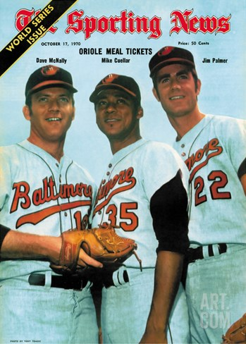 Baltimore Orioles Dave McNally, Mike Cuellar and Jim Palmer - October 17, 1970 Stretched Canvas Print