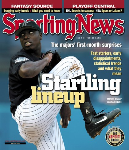 Florida Marlins P Dontrelle Willis - May 10, 2004 Stretched Canvas Print