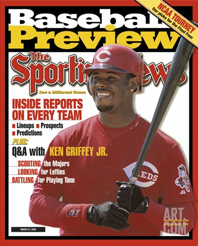 Cincinnati Reds OF Ken Griffey Jr. - March 27, 20000 Stretched Canvas Print