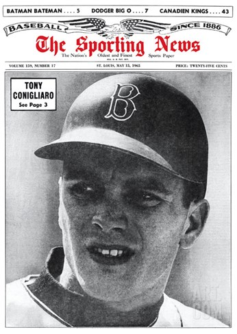 Boston Red Sox RF Tony Conigliaro - May 15, 1965 Stretched Canvas Print