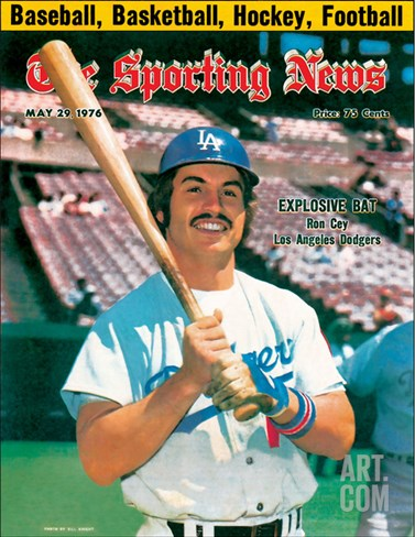 Los Angeles Dodgers' Ron Cey - May 29, 1976 Stretched Canvas Print