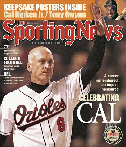 Baltimore Orioles 3B Cal Ripken Jr. - October 15, 2001 Stretched Canvas Print