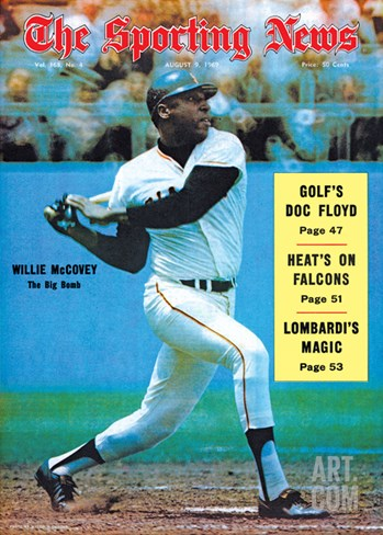 San Francisco Giants OF Willie McCovey - August 9, 1969 Stretched Canvas Print