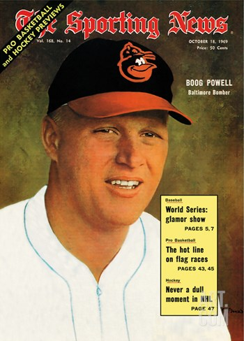 Baltimore Orioles 1B Boog Powell - October 18, 1969 Stretched Canvas Print