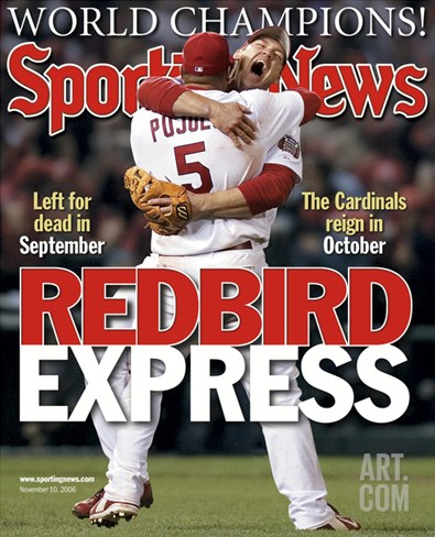 St. Louis Cardinals' Albert Pujols and Scott Rolen - November 10, 2006 Stretched Canvas Print