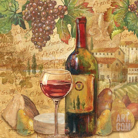 Chianti Abundance - Wine Stretched Canvas Print