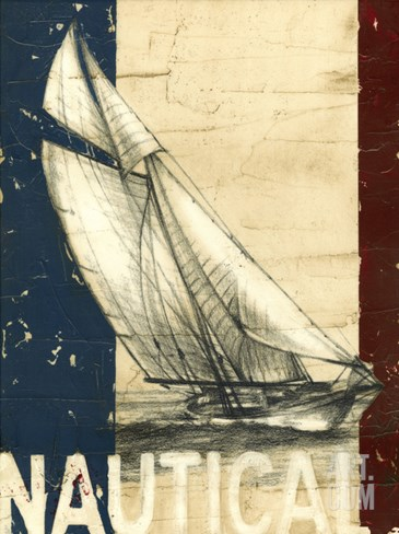 Vintage Tradewinds II Stretched Canvas Print