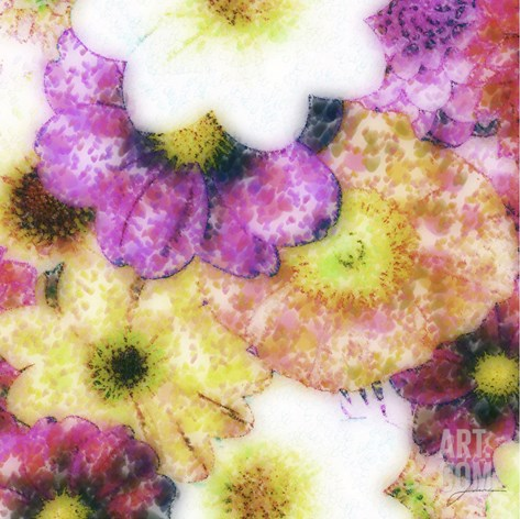 Floral Reef II Stretched Canvas Print