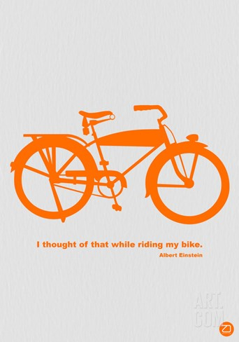 I Thought Of That While Riding My Bike Stretched Canvas Print