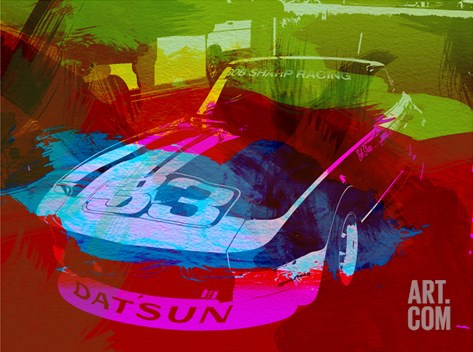 Datsun Stretched Canvas Print