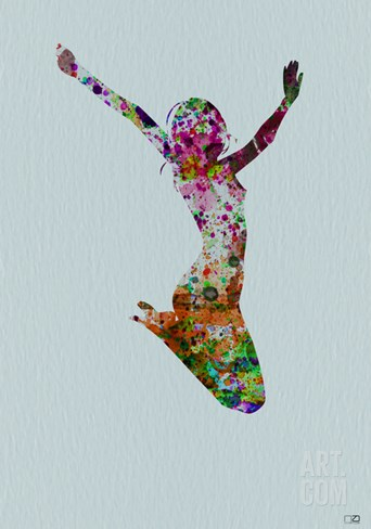 Dancer Watercolor 5 Stretched Canvas Print