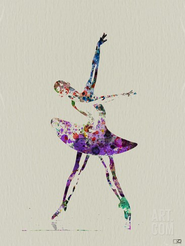 Ballerina Watercolor 4 Stretched Canvas Print