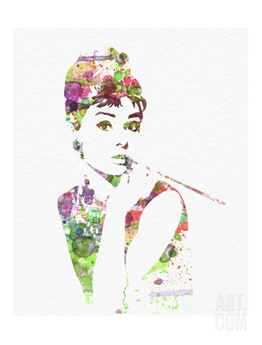 Audrey Hepburn 2 Stretched Canvas Print