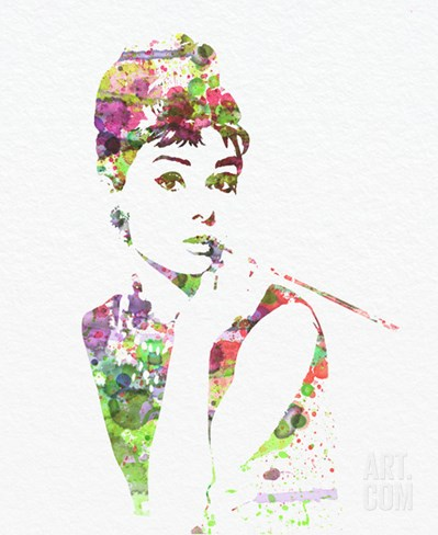 Audrey Hepburn 2 Stretched Canvas Print