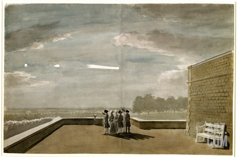 The Meteor of August 18, 1783, as Seen from the East Angle of the North Terrace, Windsor Castle Stretched Canvas Print