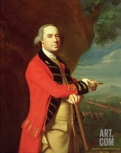 Portrait of General Thomas Gage, c.1768 Stretched Canvas Print