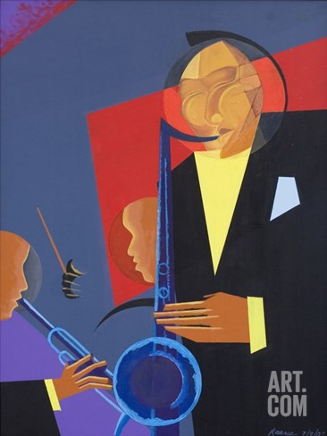 Jazz Sharp, 2007 Stretched Canvas Print