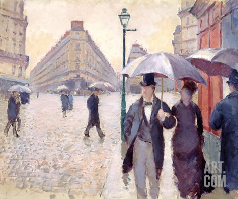 Sketch for 'Paris Street; Rainy Day', 1877 Stretched Canvas Print