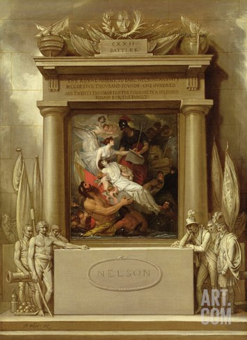Project for a Monument, 'The Apotheosis of Nelson', 1807 Stretched Canvas Print