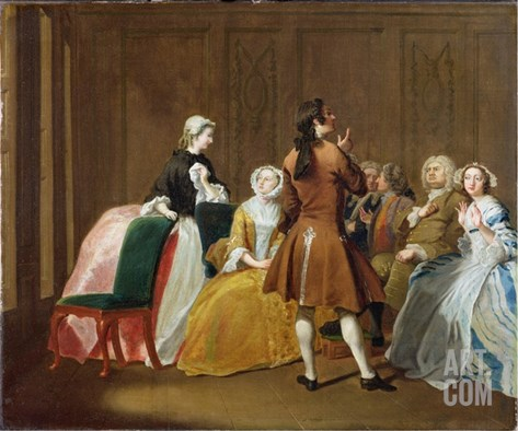 The Harlowe Family, from Samuel Richardson's 'Clarissa', c.1745-47 Stretched Canvas Print