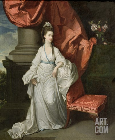Lady Grant, Wife of Sir James Grant, Bt., 1770-80 Stretched Canvas Print