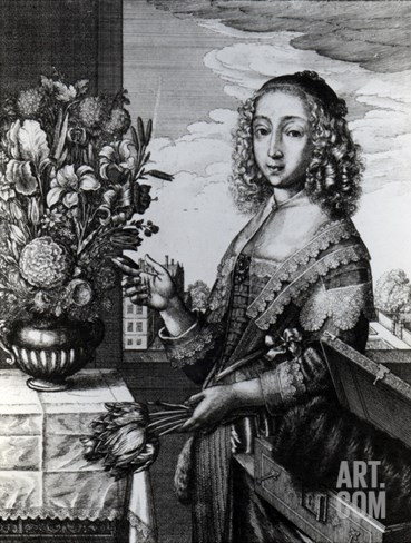 Spring, 1641 (Etching) Stretched Canvas Print