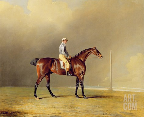 Diamond, with Dennis Fitzpatrick Up, 1799 (Oil on Canvas) Stretched Canvas Print