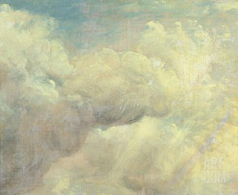 Cloud Study, c.1821 Stretched Canvas Print