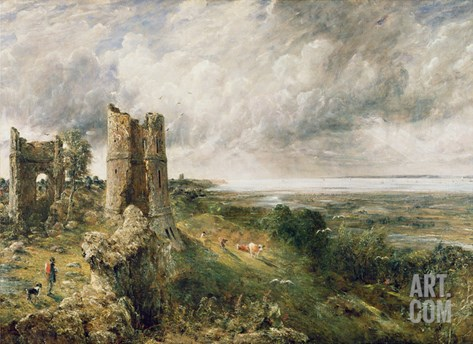Hadleigh Castle, 1829 Stretched Canvas Print