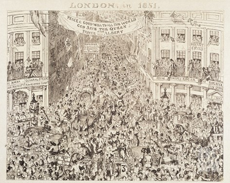 Mayhew's Great Exhibition of 1851: London in 1851, 1851 (Etching) Stretched Canvas Print