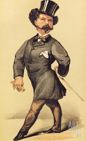 Sir Robert Peel (1822-95), Cartoon from Vanity Fair, 19 March 1870 Stretched Canvas Print