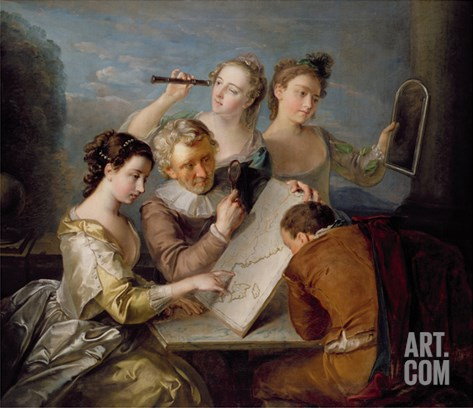 The Sense of Sight, c.1744-47 Stretched Canvas Print
