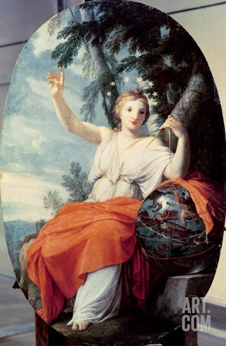 The Muse Urania, 1646-47 (Oil on Panel) Stretched Canvas Print