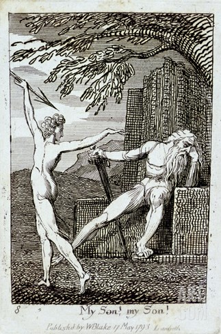 My Son! My Son!, Plate 10 from 'For Children. the Gates of Paradise', 1793 (Engraving) Stretched Canvas Print