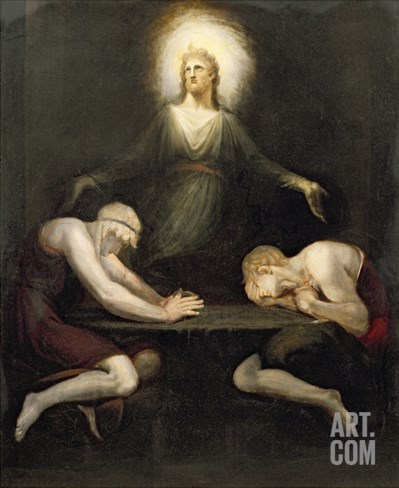 The Appearance of Christ at Emmaus, 1792 Stretched Canvas Print