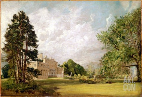 Malvern Hall, Warwickshire, C.1820-21 (Oil on Canvas) Stretched Canvas Print