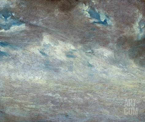 Cloud Study, 1821 (Oil on Paper on Board) Stretched Canvas Print