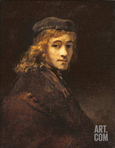 Titus, the Artist's Son, c.1662 Stretched Canvas Print