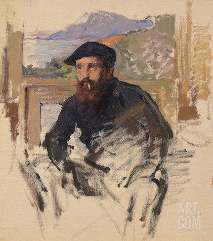 Self Portrait in His Atelier, c.1884 Stretched Canvas Print