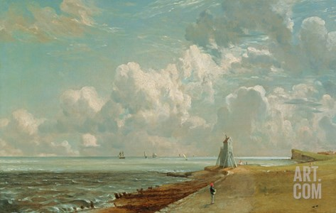 Harwich, the Low Lighthouse and Beacon Hill, c.1820 Stretched Canvas Print