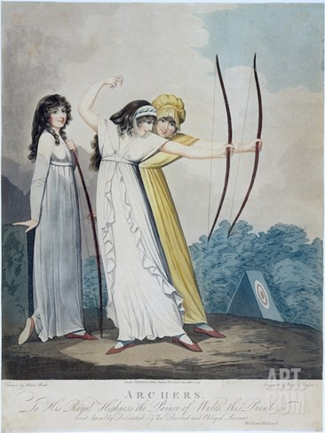 Archers, Engraved by J.H. Wright (Fl.1795-1838) and Conrad Ziegler, 1799 (Aquatint) Stretched Canvas Print