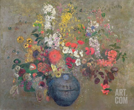 Flowers, 1909 (Oil on Canvas) Stretched Canvas Print
