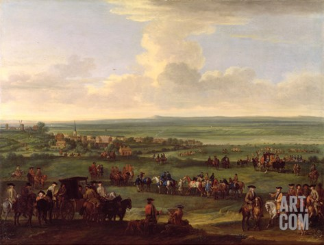 George I (1660-1727) at Newmarket, 4Th/5th October 1717, c.1717 Stretched Canvas Print