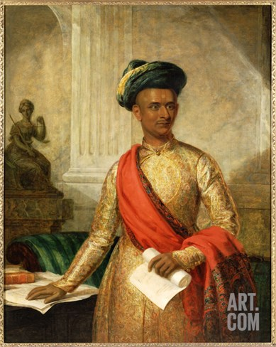 Purniya, Chief Minister of Mysore, c.1801 Stretched Canvas Print