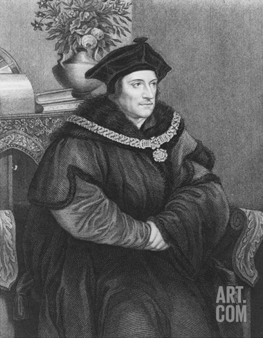 Sir Thomas More (1477-1535) (Engraving) Stretched Canvas Print