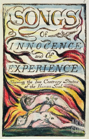 Combined Title Page from 'Songs of Innocence and of Experience', Plate 2 of Bentley Copy L Stretched Canvas Print
