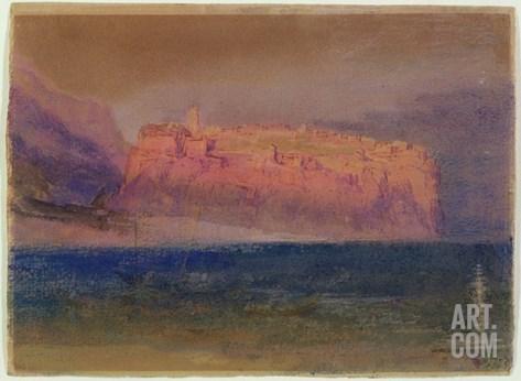 Corsica, (Monaco?) C.1830-35 (W/C on Brown Paper) Stretched Canvas Print