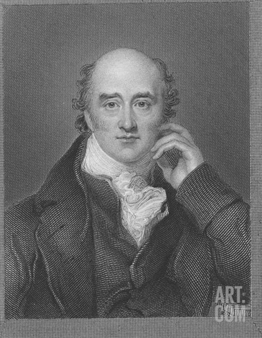 George Canning (Engraving) Stretched Canvas Print