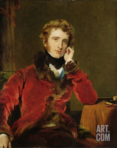 George James Welbore Agar-Ellis, Later 1st Lord Dover, c.1823-24 Stretched Canvas Print