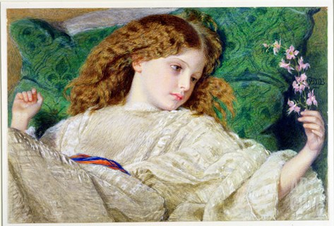 Dreams, C.1861 (W/C, Bodycolour and Gum over Graphite on Card) (See 133888) Stretched Canvas Print